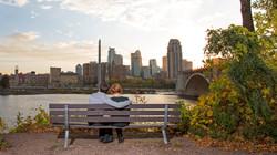 Minneapolis Skyline Engagement Photography MN