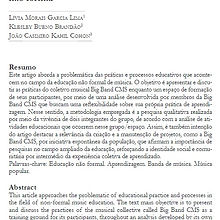 A big bamd CMS: a prática musical no campo da educação não formal | artigo Joao Casimiro