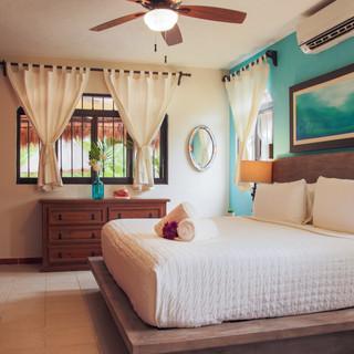 Villa master bedroom, king bed.