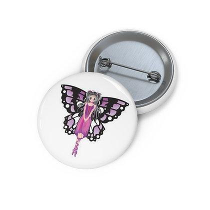 Flutter Fairy Pin Button