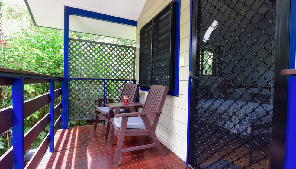 Private verandah with view to the Coral