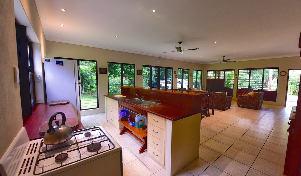 Big Bungalow kitchen and living room