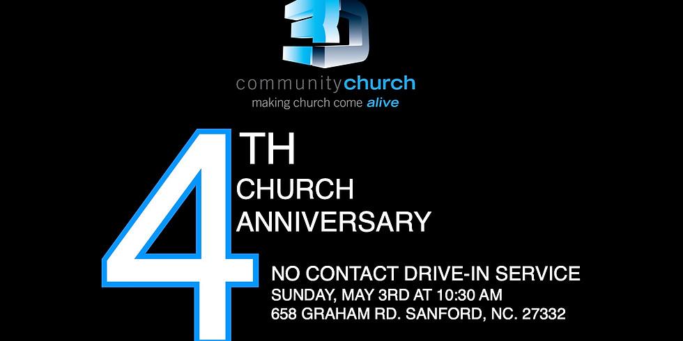 4 Year Church Anniversary