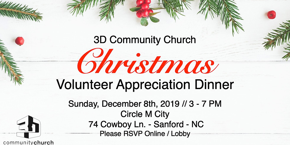 3D Volunteer Christmas Dinner