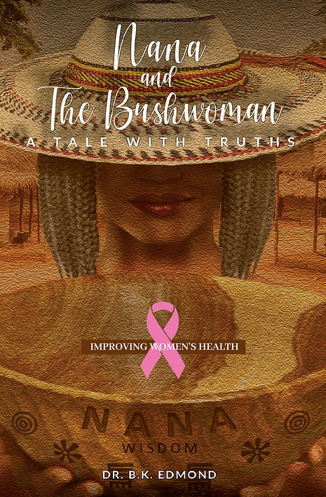 Nana and the Bushwomen Book Cover with Pink Ribbon.jpg
