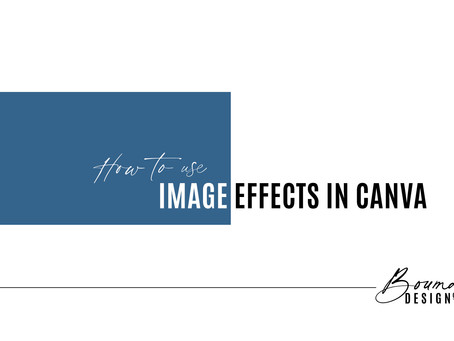 How to Use Image Effects in Canva