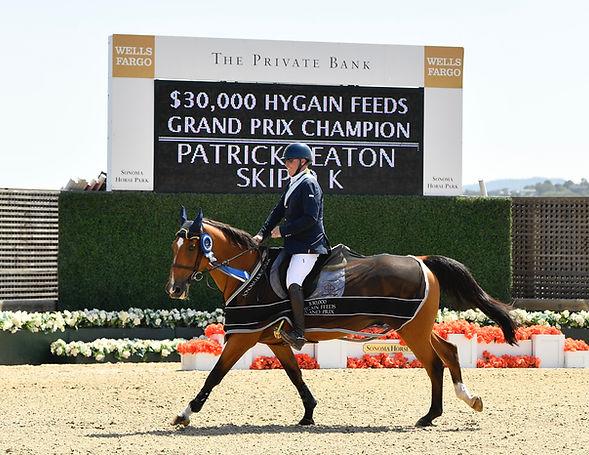 Winners of the $30,000 Hygain Grand Prix