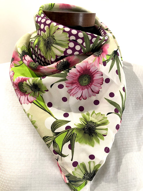 Silk jacquard printed scarf