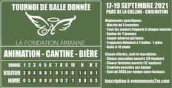 Couverture tournoi de balle Fondation Arianne
