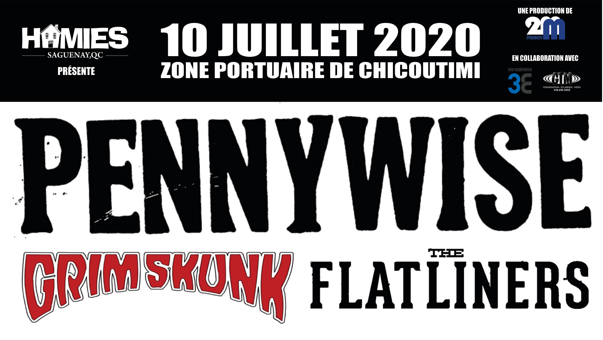 Event cover facebook Pennywise Saguenay