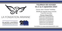 Couverture tournoi de hockey Fondation Arianne
