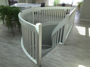 Sprayed Staircase Handrailing