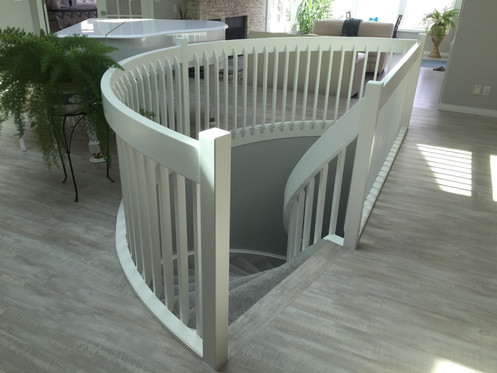 Sprayed Staircase Handrailing