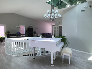 Painted Walls and Sprayed Handrails of this Chestermere home
