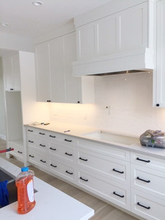 Sprayed Kitchen Cabinets and Drawers