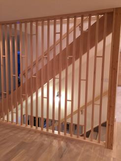 Sprayed Wooden Stair Divider