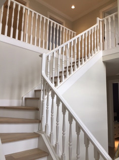 Painted Handrailing and Walls