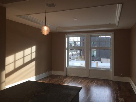 Painted Walls, Sprayed Ceiling and Trim