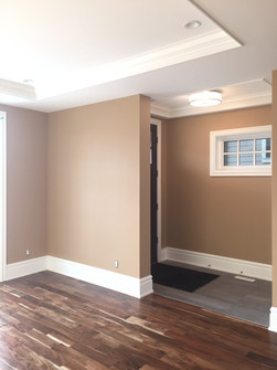 Painted Wall, Sprayed Ceiling and Trim.