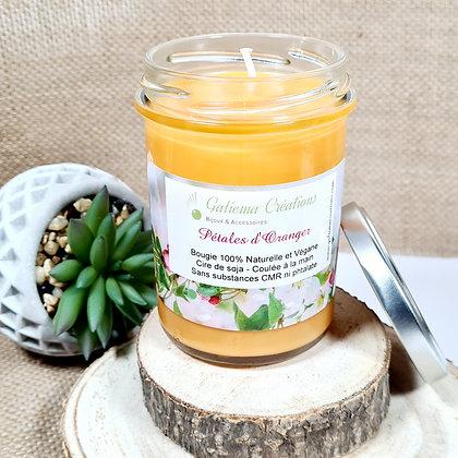 """Bougie Parfumée """"Pétales d'Oranger"""""""