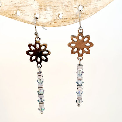 "Boucles d'oreilles en cristal de Swarovski ""Edelweiss"""