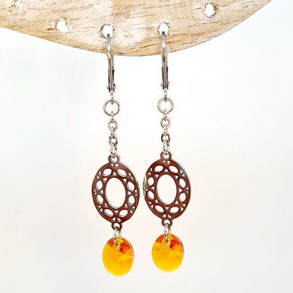 """Boucles d'oreilles en cristal de Swarovski """"Orangette"""""""