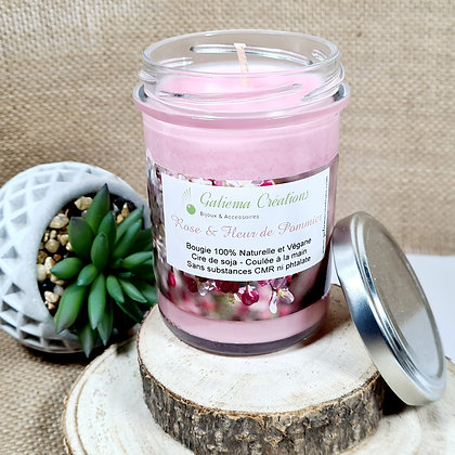 """Bougie Parfumée """"Rose & Fleur de Pommier"""""""