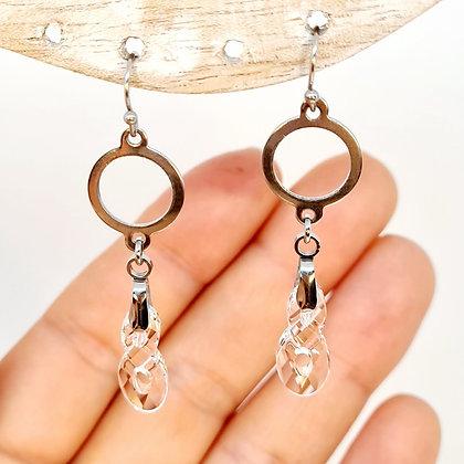 """Boucles d'oreilles cristal de Swarovski """"Infini"""""""