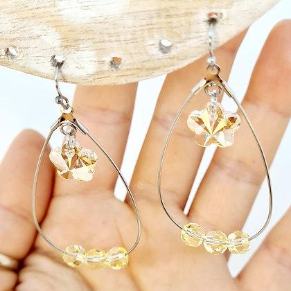 "Boucles d'oreilles en cristal de Swarovski ""Xylia"""