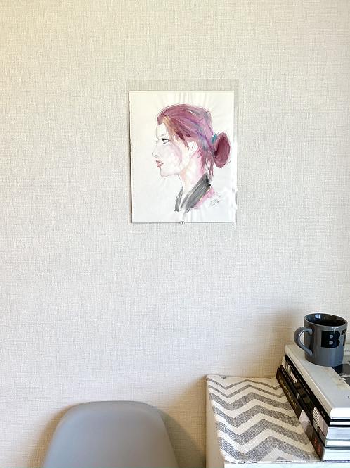 "Portrait ""burgundy hair"""