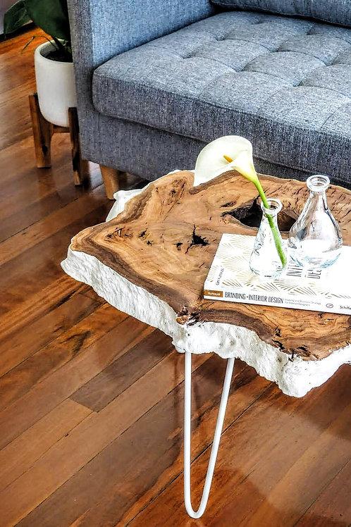 Snowy burl coffe table