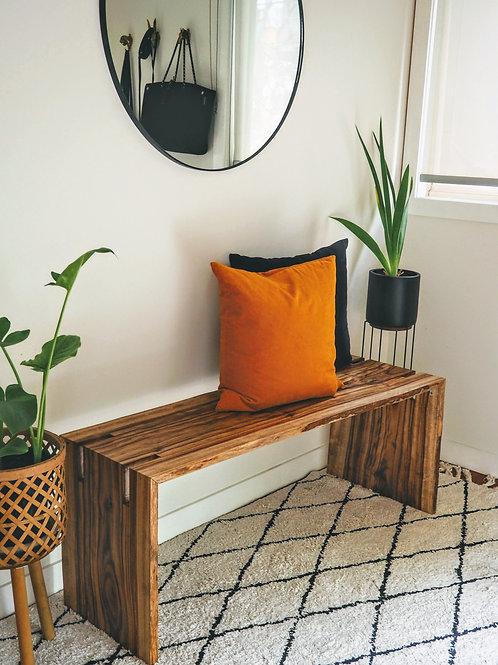 Live edge seating bench