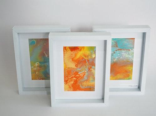 Set of Framed resin artworks  N2