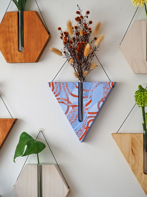 Land and Sky triangular wall planter