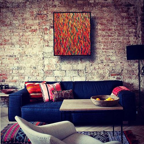''Guacamaya'' Acrylic on canvas