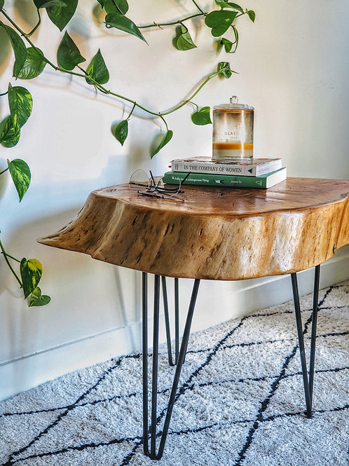 The burl table