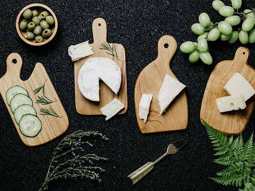 Wooden cheese board set of 4