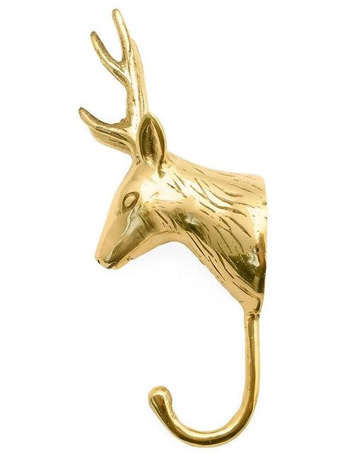 Brass hook Deer