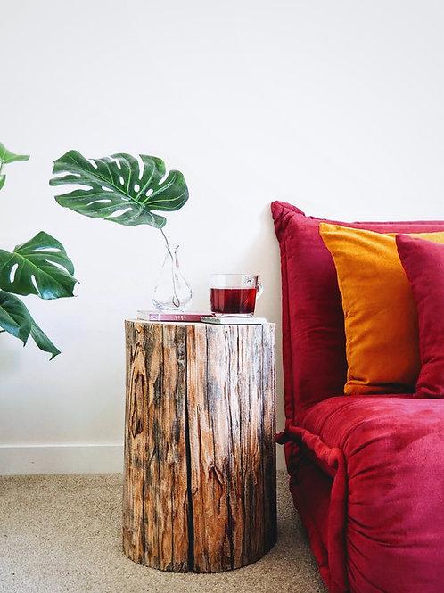 Tree stump stool / table