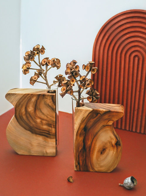 Butterfly wing vase