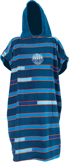 Alder Poncho Fleece Blue Stripe