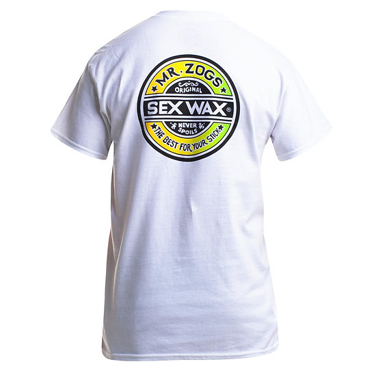 Mr Zogs Sex Wax The Fade Mens T-Shirt | White