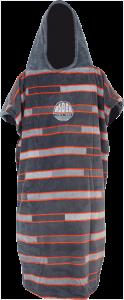 Alder Poncho Fleece Grey Stripe