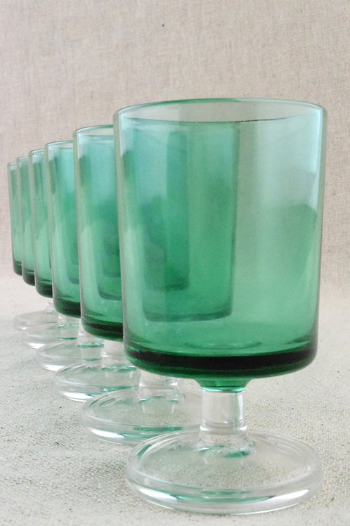 Set French Teal Glasses