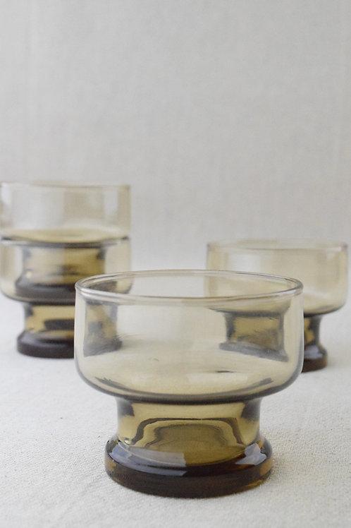 Set of Smoked Glass Bowls