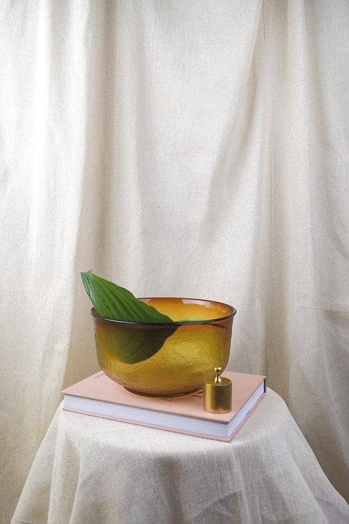 Large Amber Bowl