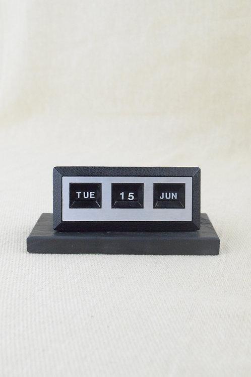 Vintage Desk Calendar With Slate Base