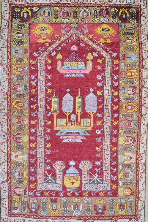 Middle Eastern Wool Tasseled Rug