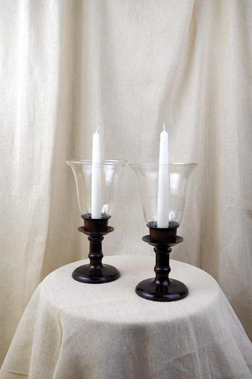 Pair of Vintage Hurricane Lamps
