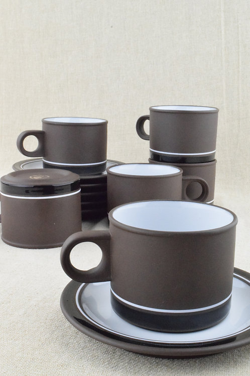 Hornsea 'Contrast' Tea Set